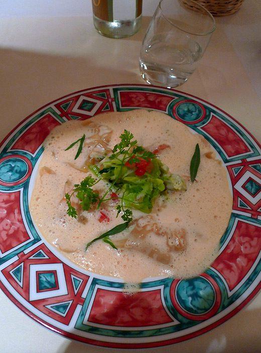 Restaurant L'Inattendu, Les ravioles de langoustine à la crème d'estragon