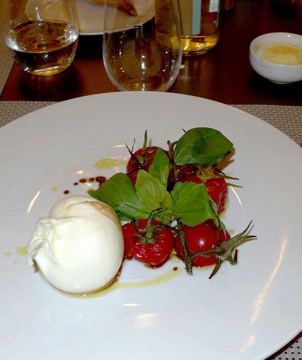Restaurant L'Instant d'Or, Buratta et tomates