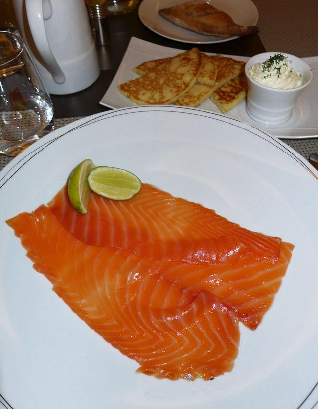 Restaurant L'Instant d'Or, saumon fumé