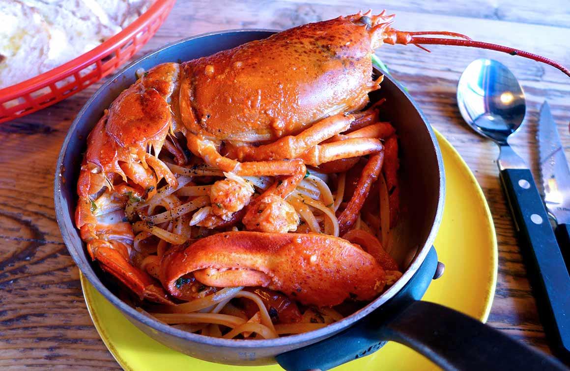 Restaurant Little Nonna : Spaghettis au homard