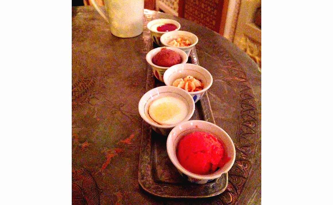 Restaurant Liza, desserts du menu mezzés