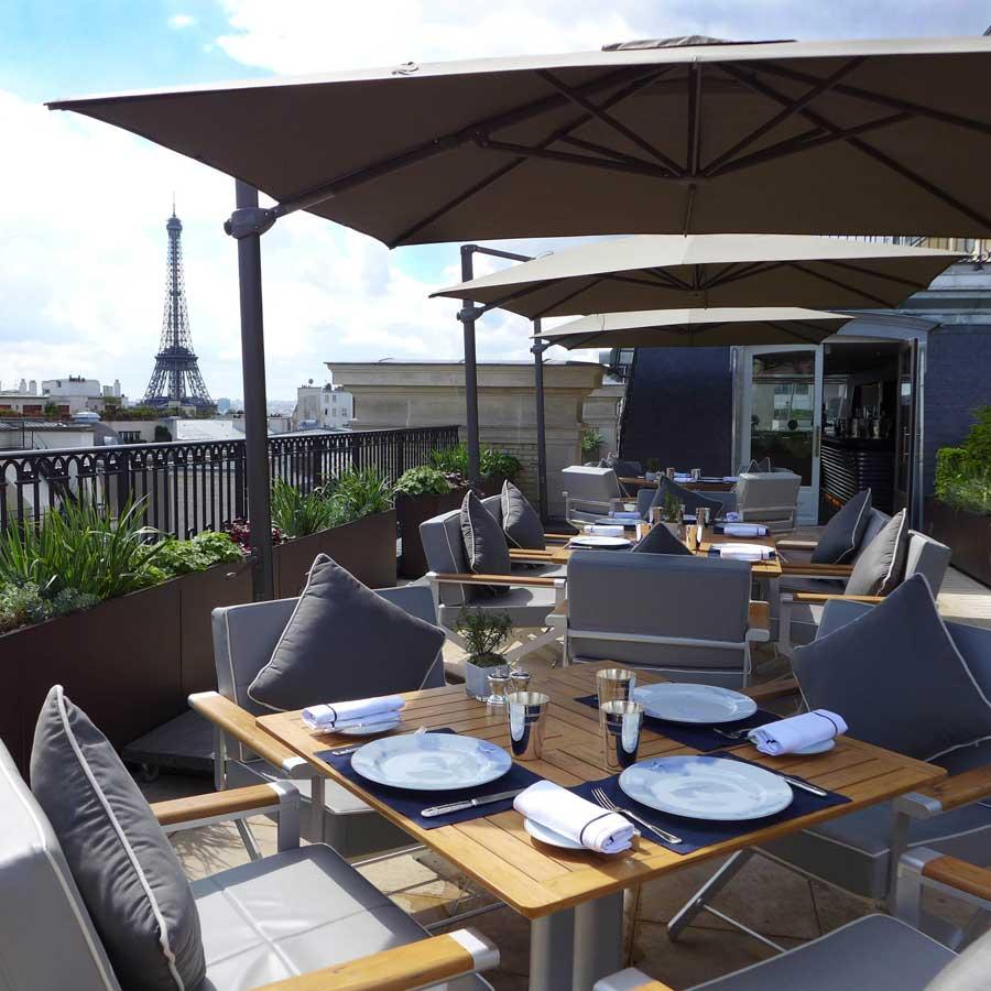 La superbe terrasse du Restaurant L'Oiseau Blanc