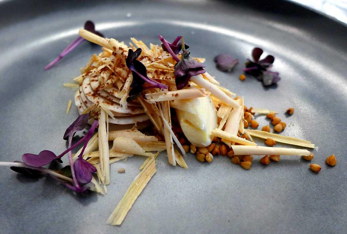 Restaurant Louis : Champignon de Paris foie gras