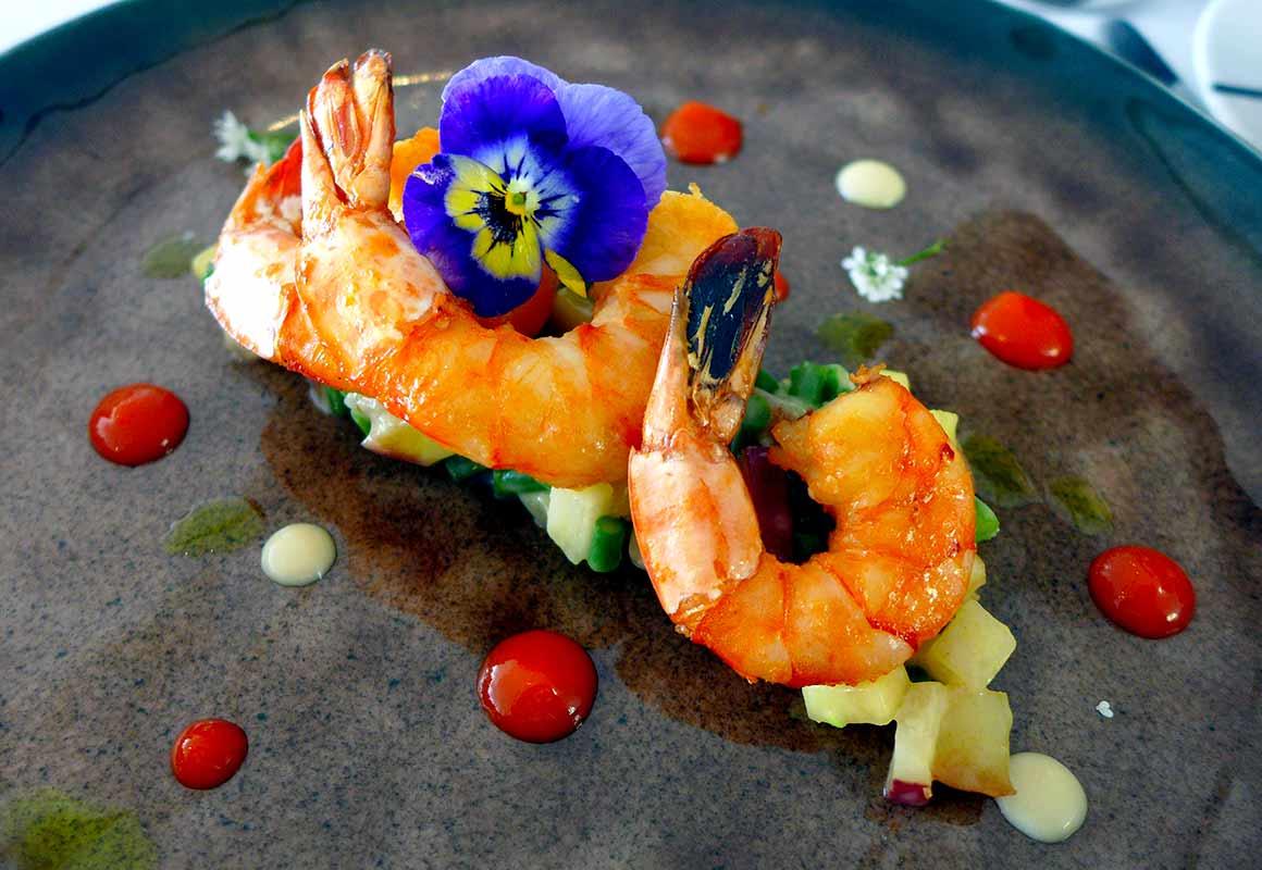 Restaurant Maison Blanche, Les crevettes