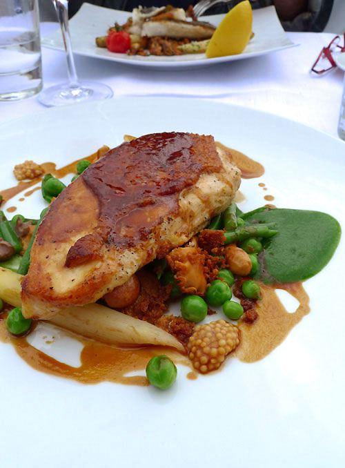 Restaurant Maison Blanche, poitrine de poulette jaune des Landes
