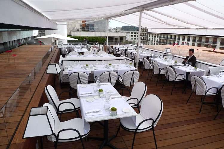 Restaurant Maison Blanche, vaste terrasse