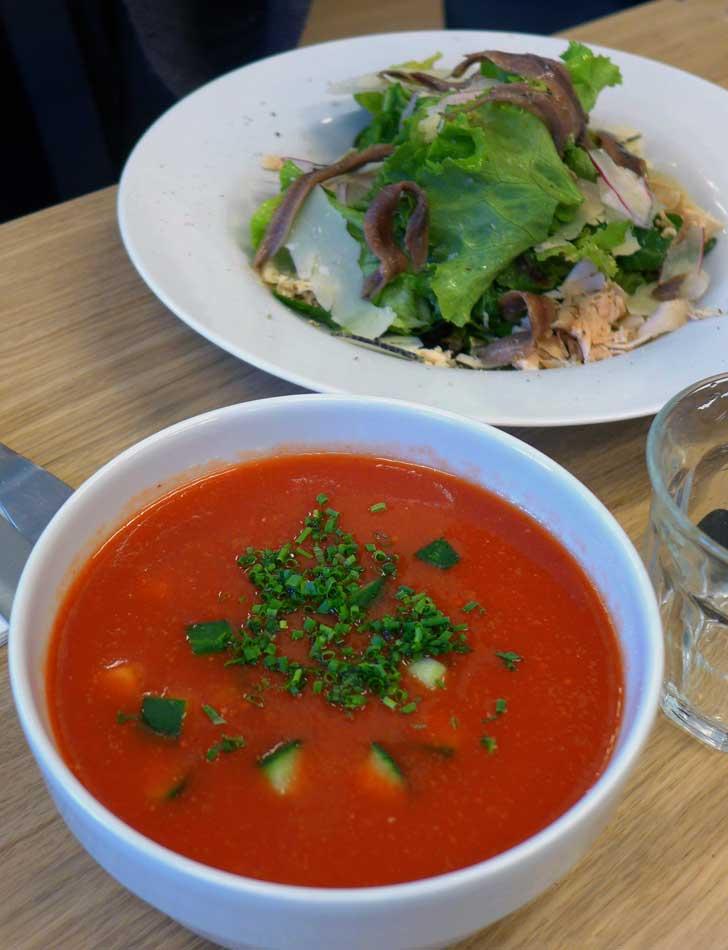 Restaurant Maison Plisson, soupe froide de tomate au piment