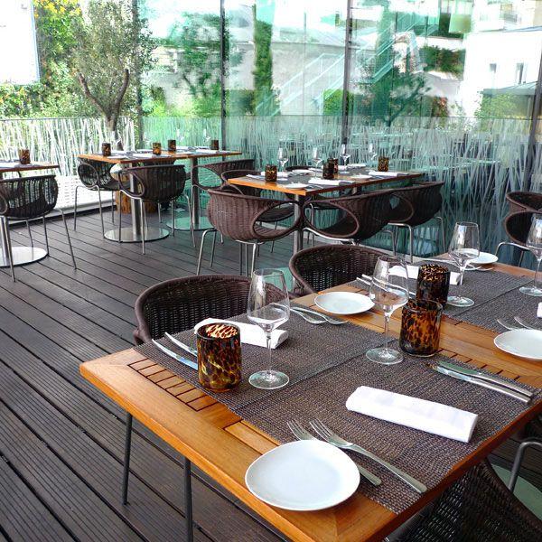 Restaurant Makassar, La terrasse du restaurant