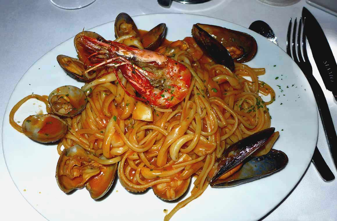 Restaurant Mamo, Linguine aux fruits de mer