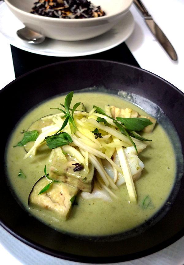 Restaurant Manger, curry vert de cabillaud