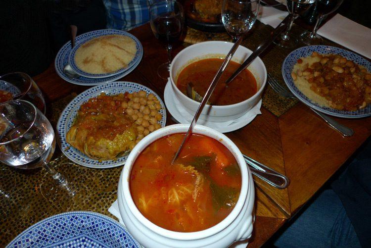 Restaurant Mansouria, Les couscous