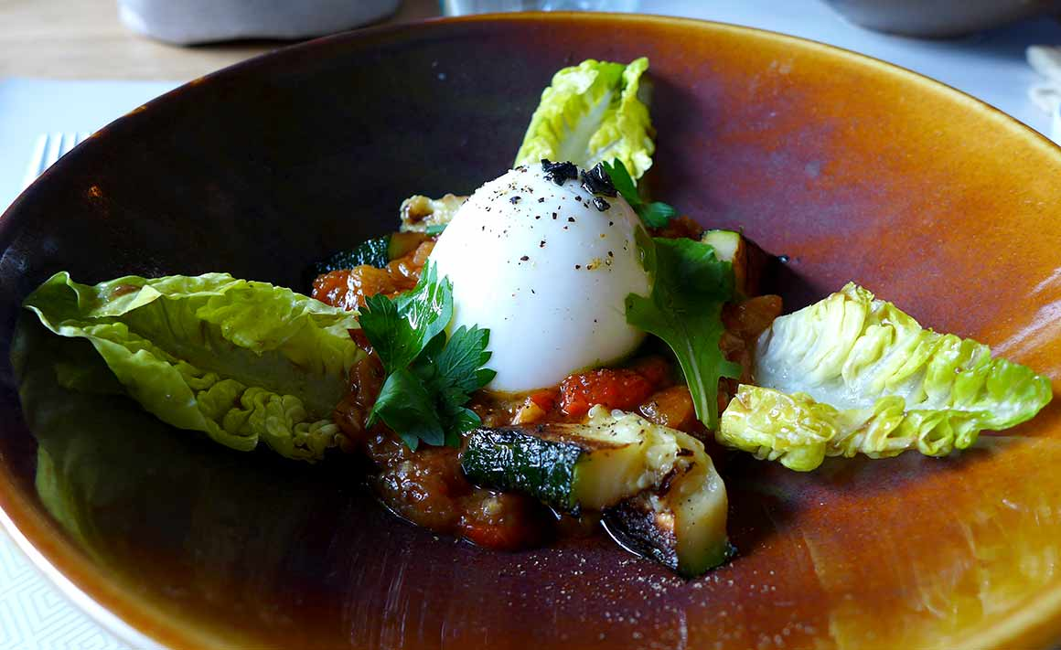 Restaurant Mavrommatis Passy : Oeuf mollet bio