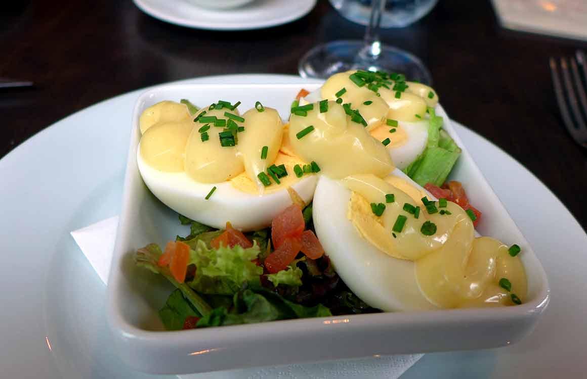 Restaurant Meato, oeufs mayonnaise