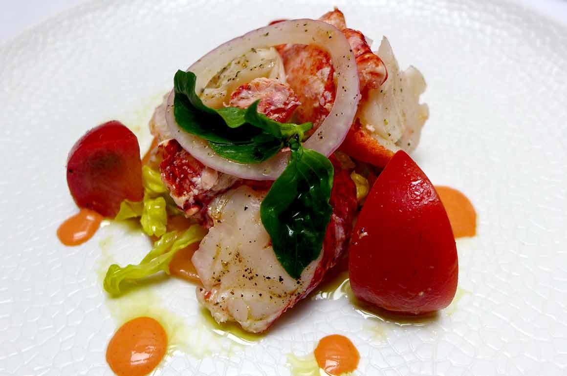 Restaurant Penati Al Baretto : Salade de fèves et gambas