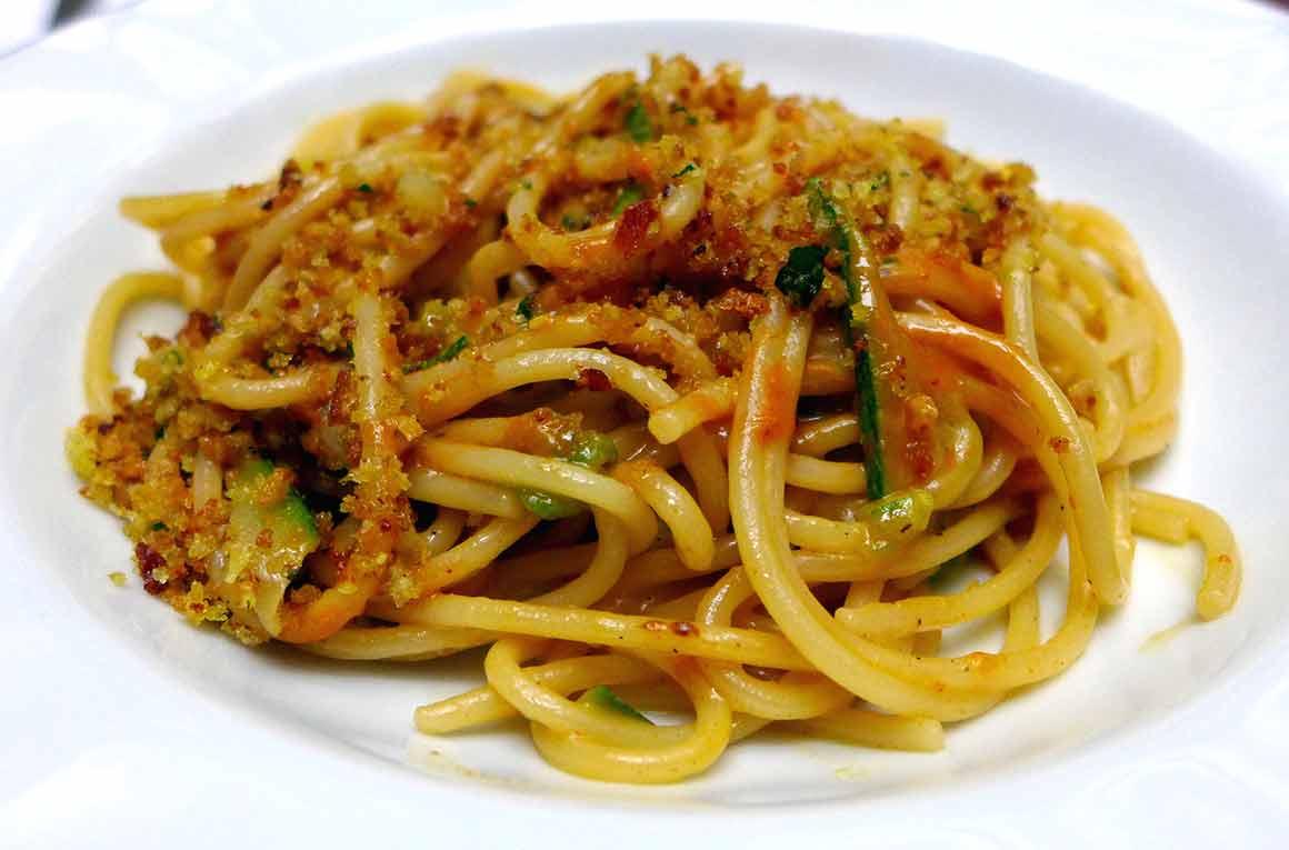 Restaurant Penati Al Baretto : Spaghetti aux langues d`oursins