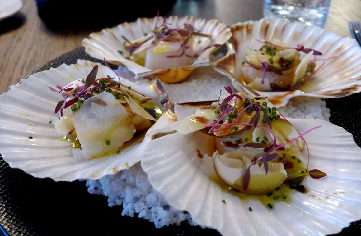 Restaurant Miura, Saint-Jacques naturelles en coquilles