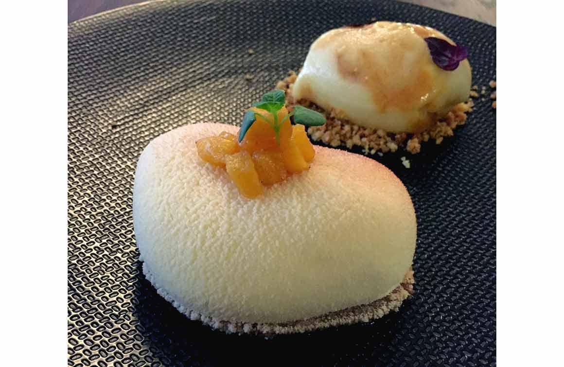 Restaurant Miura, cheesecake passion-mangue