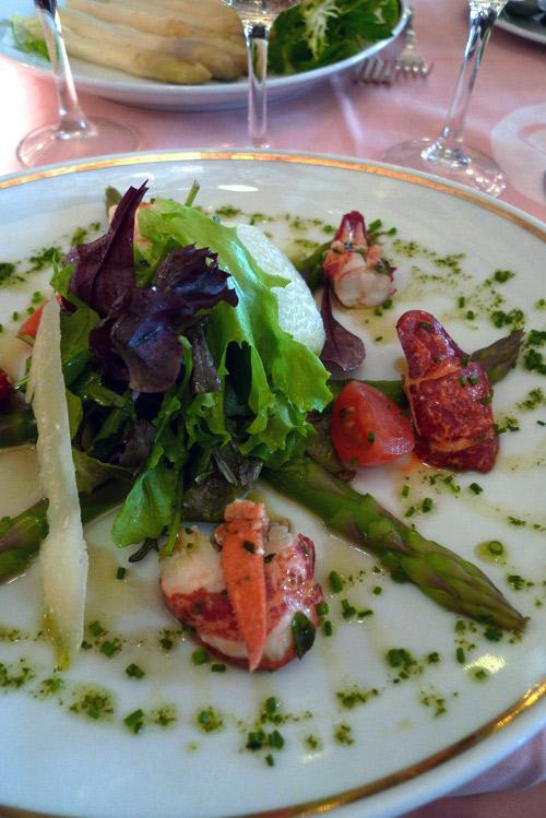 Brasserie Mollard, salade de homard aux pointes d'asperges vertes