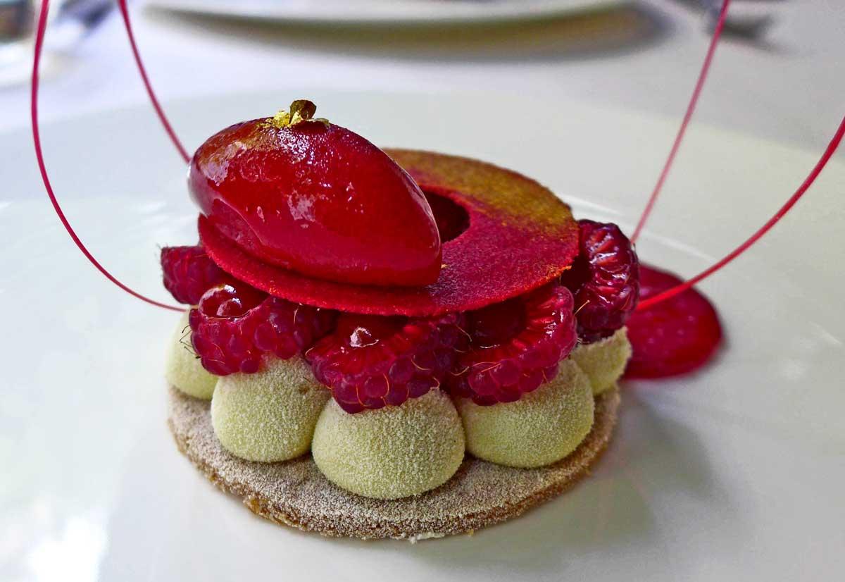 Restaurant Le Quinzième : Framboises bio avec chantilly légère