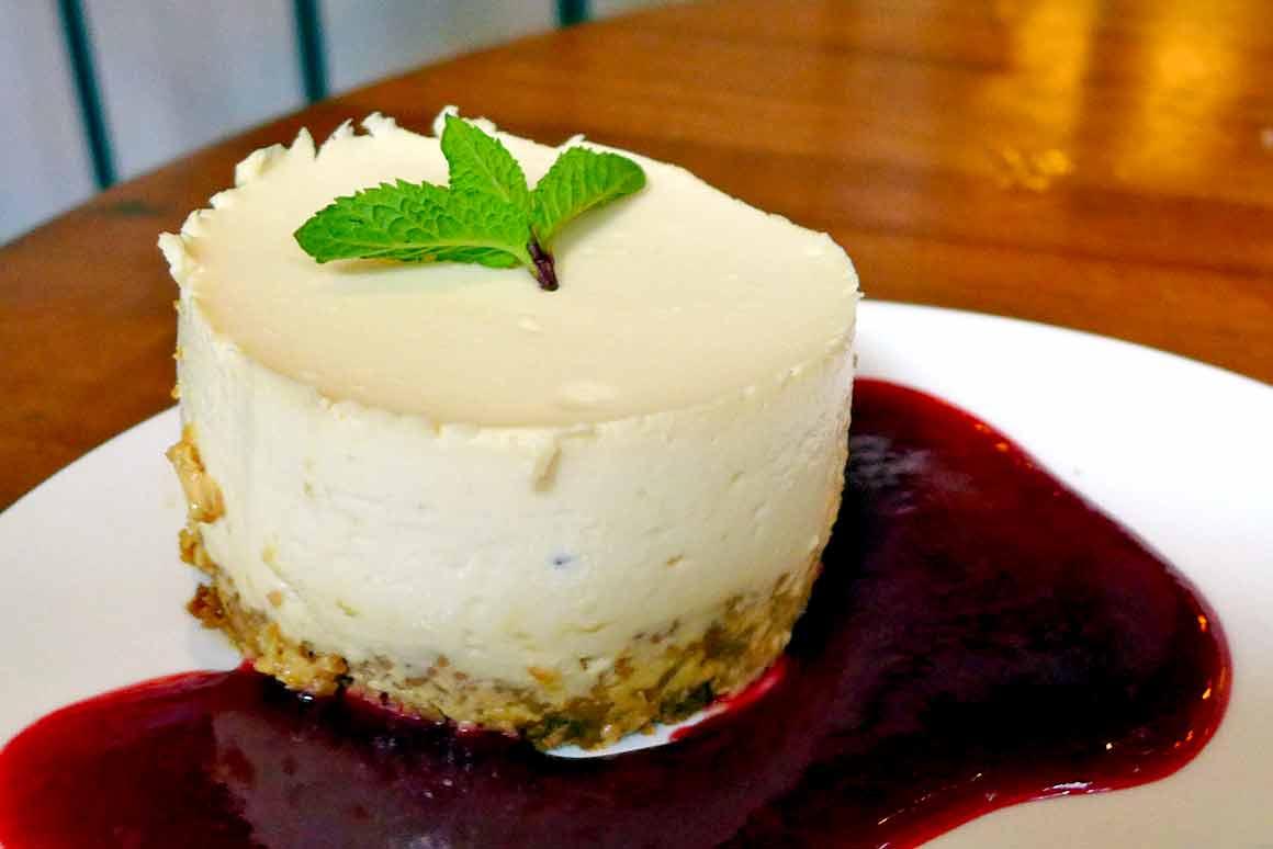 Restaurant La Galerie 88, cheesecake coulis de fruits rouges