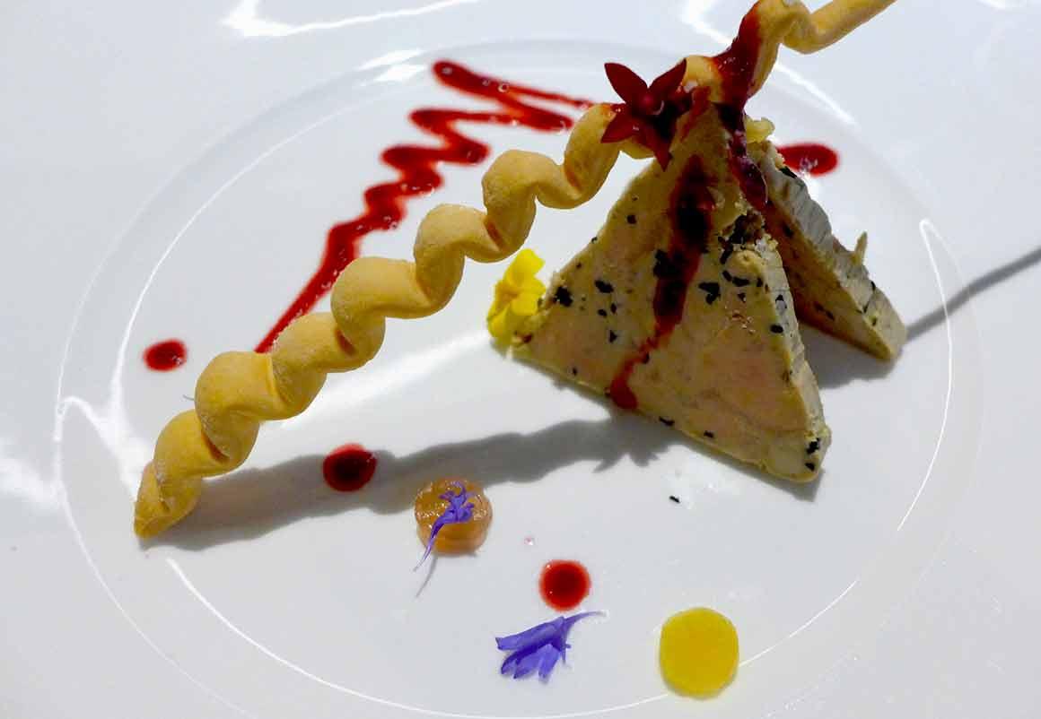 Restaurant Eclipses, foie gras de canard aux truffes