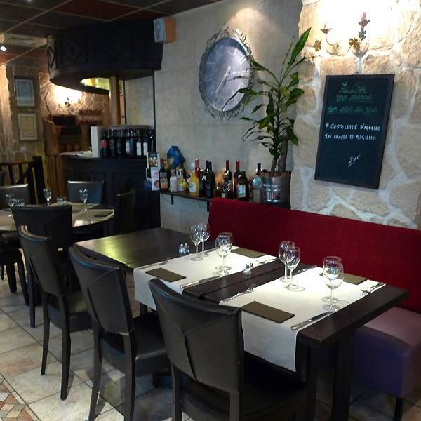 Restaurant Monteleone, Le décor sobre et coquet