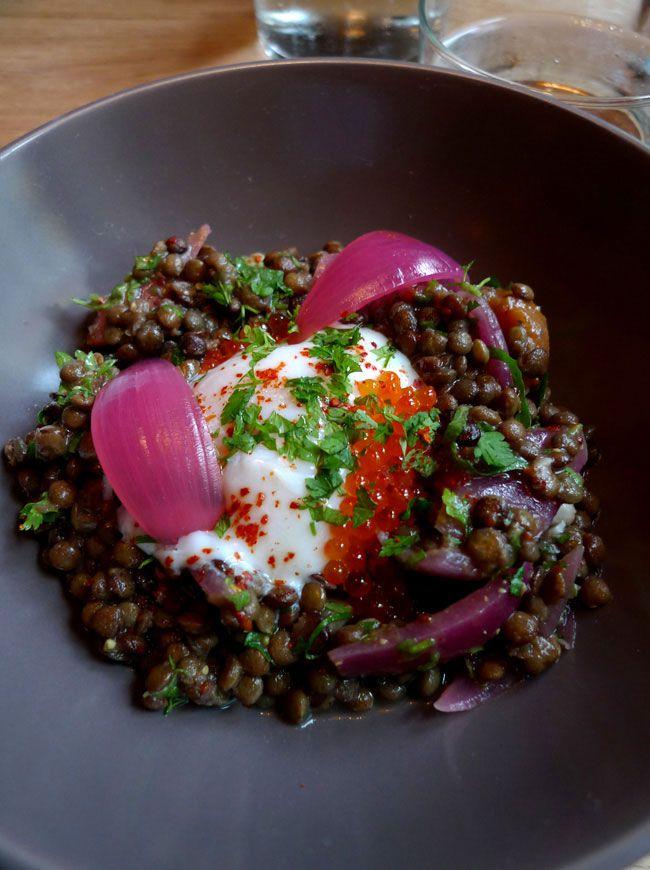 Restaurant Muxu, salade de lentilles