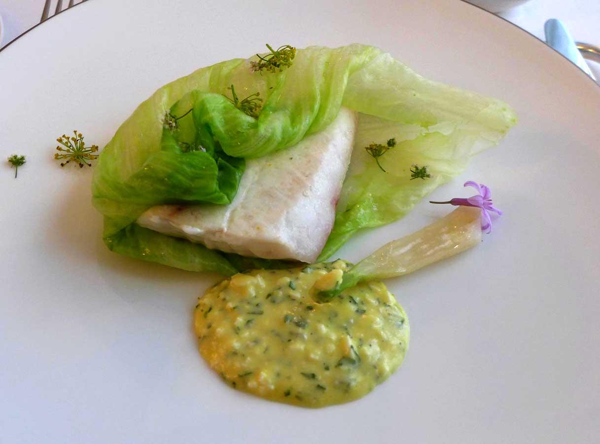Restaurant Nakatani, daurade Royale rôtie au sautoir