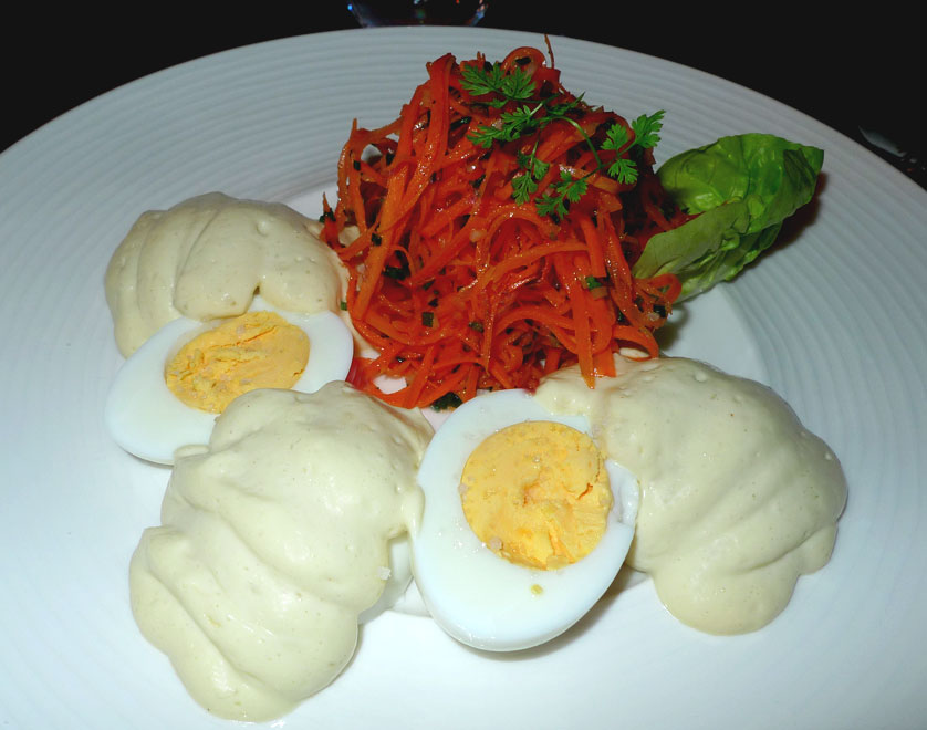 Restaurant Napoleone : Œufs mayonnaise et carottes râpées
