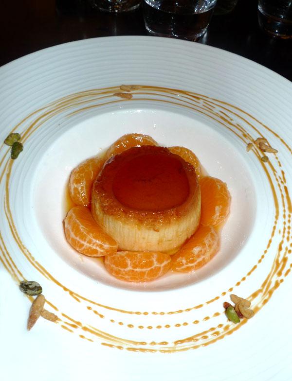 Restaurant Napoleone : Entremets au caramel et clémentine
