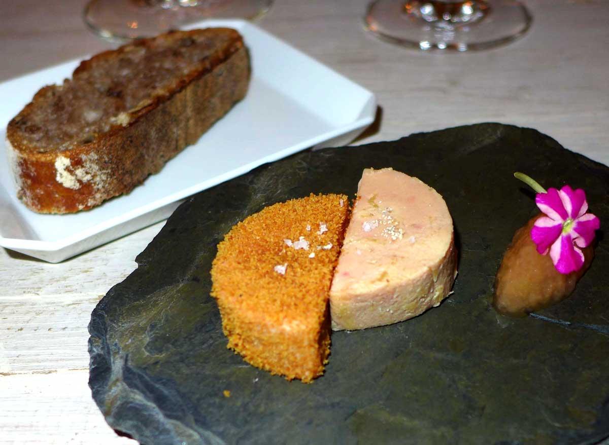 Restaurant Neige d'Eté, Foie gras et chutney