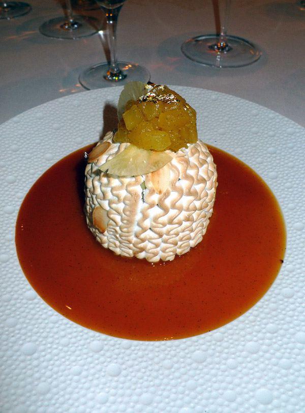 Restaurant Le Cinq : La Polonaise à l'ananas