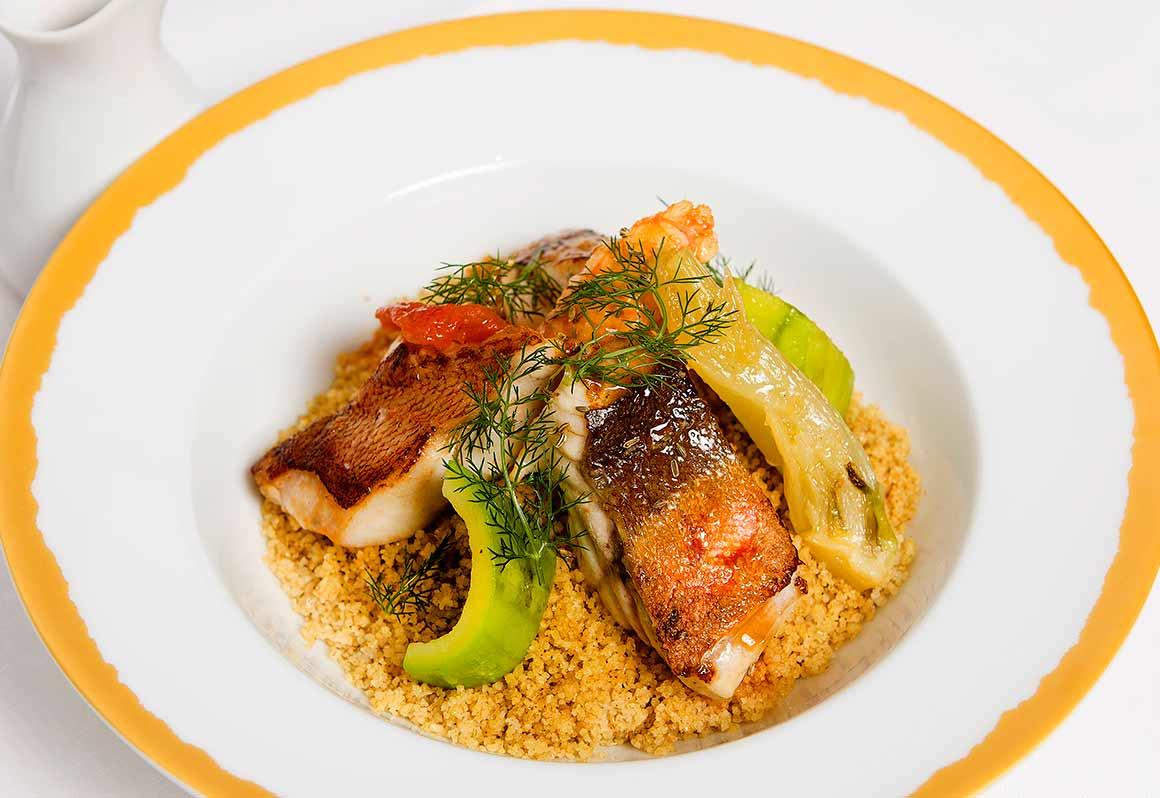 Restaurant NOTO, Couscous di pesce, poissons du jour