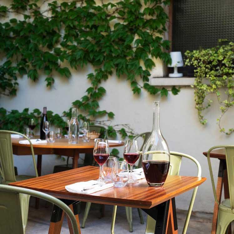 La terrasse du restaurant O Divin