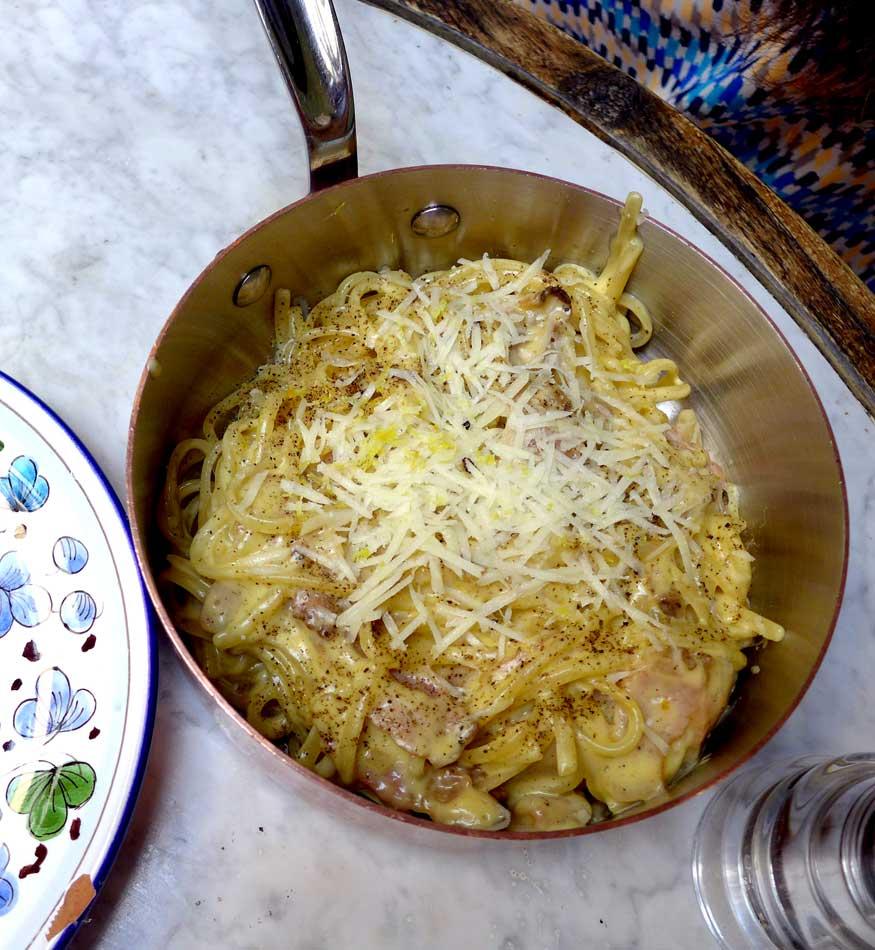 Restaurant OBER MAMMA, Pâtes carbonara
