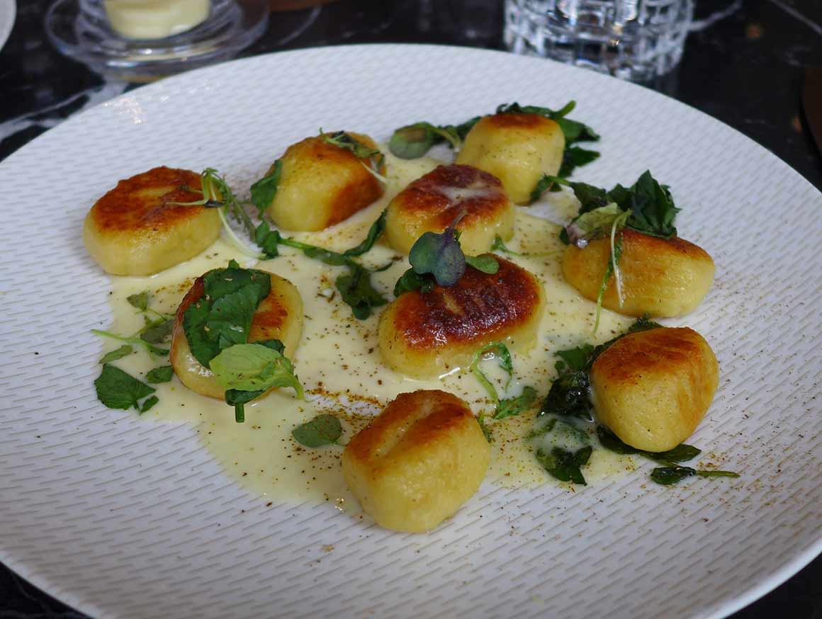 restaurant Odette, gnocchis