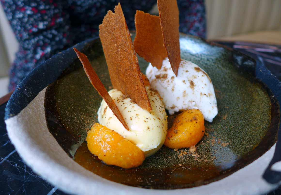 restaurant Odette, crémeux mandarine
