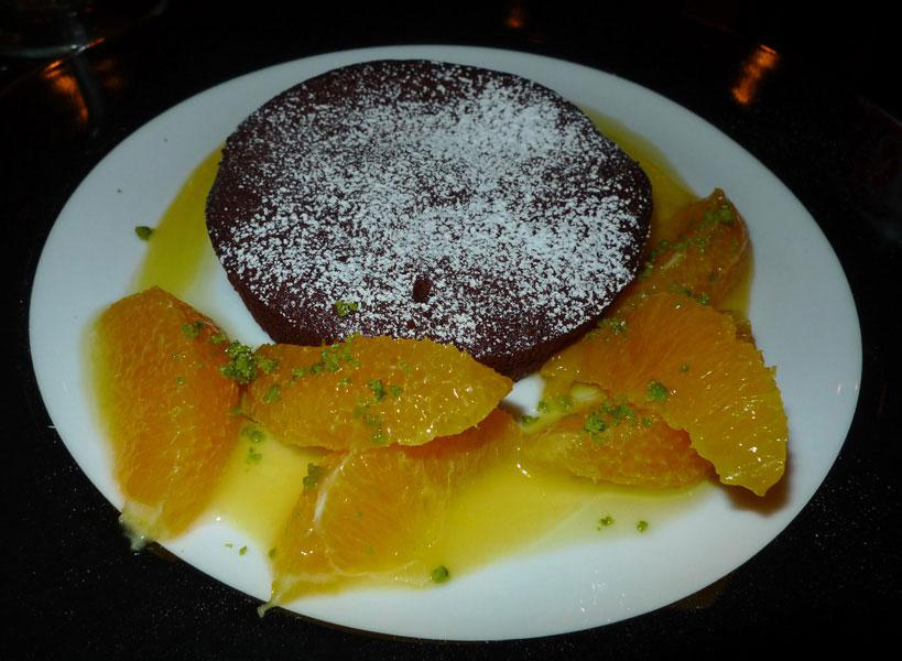 Restaurant Officina Schenatti, spumone au chocolat noir