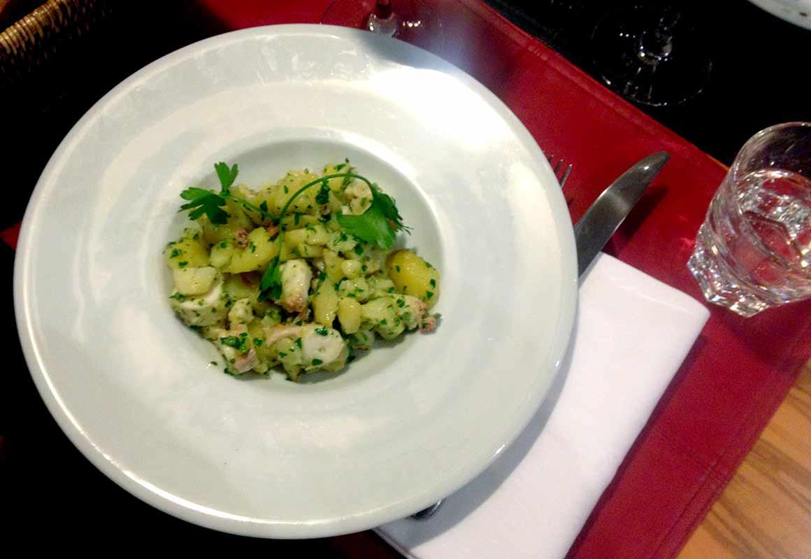 Restaurant Oliva : Salade de poulpe