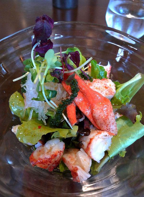 Restaurant Orient Extrême Neuilly, salade de homard