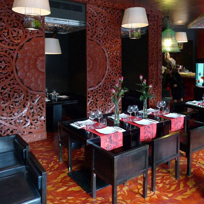 La salle du restaurant AUX TROIS NAGAS