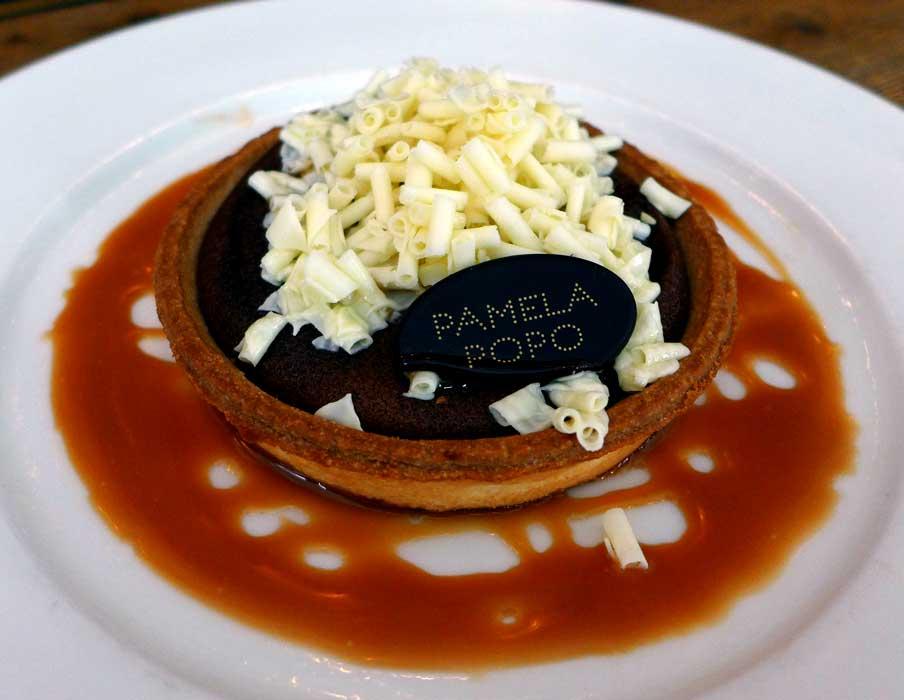 Restaurant Pamela Popo, tartelette au chocolat