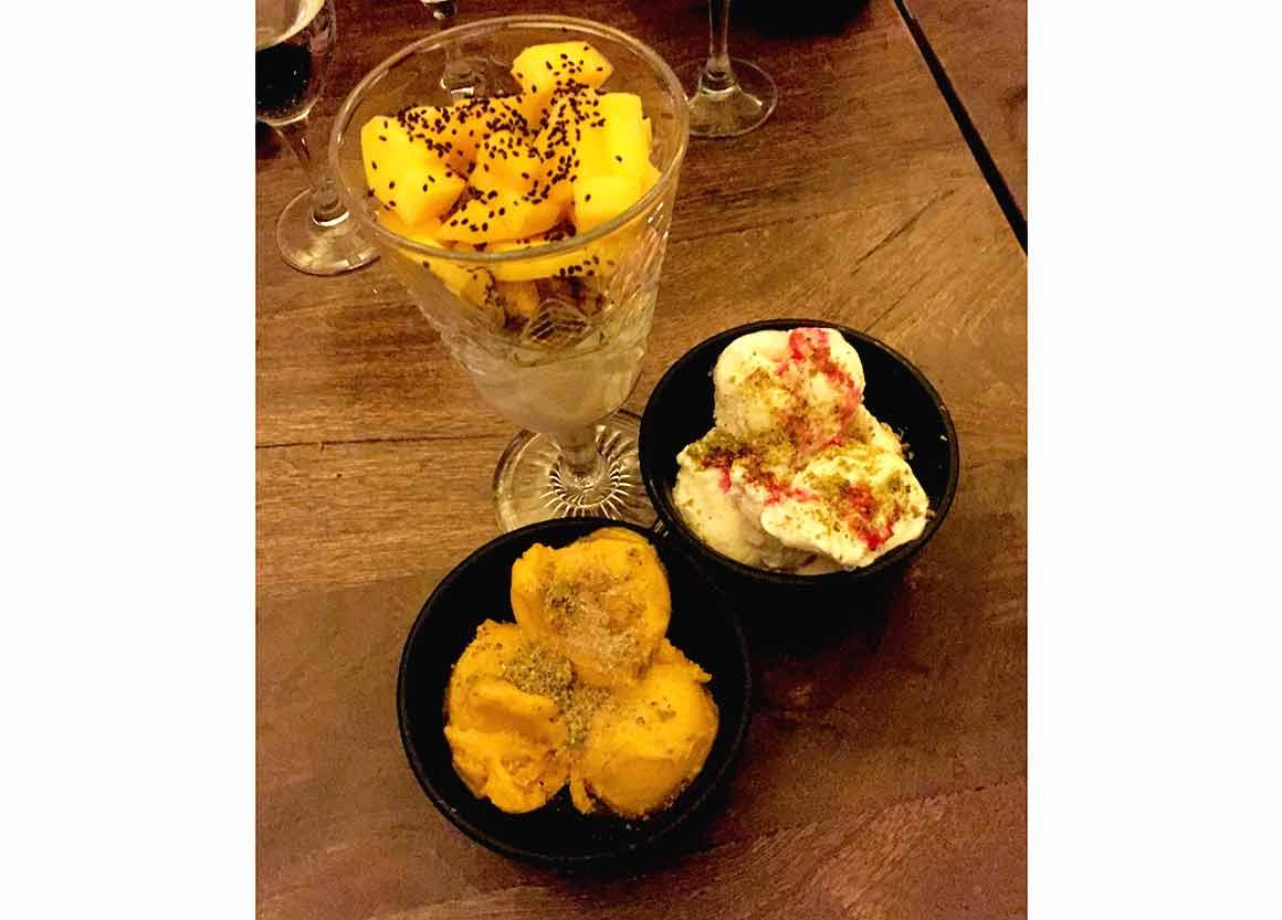Restaurant PAPADOOM KITCHEN, kulfi à la mangue et cardamome