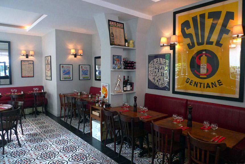 Restaurant Paris XVII, La salle