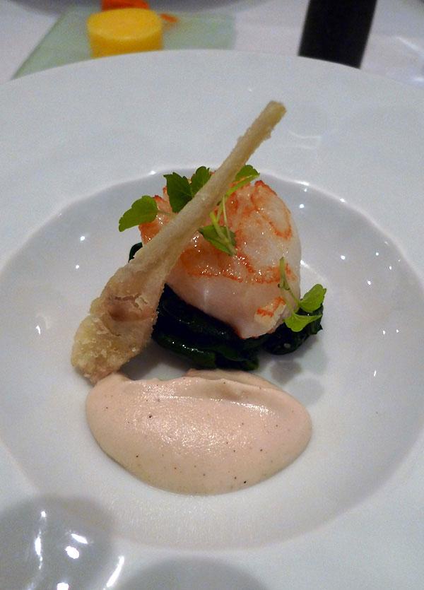 Restaurant Le Passage 53, Saint-Jacques sauce cresson