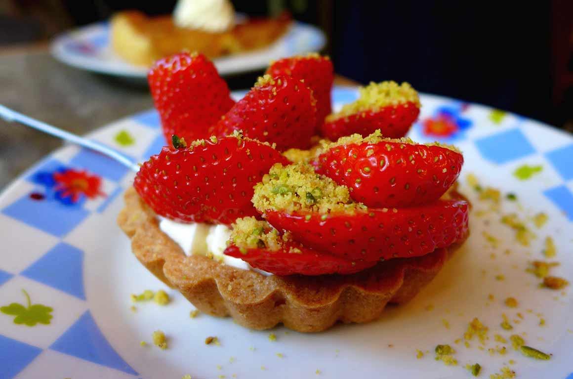 Restaurant Les Caves de Prague : Tartelette aux fraises