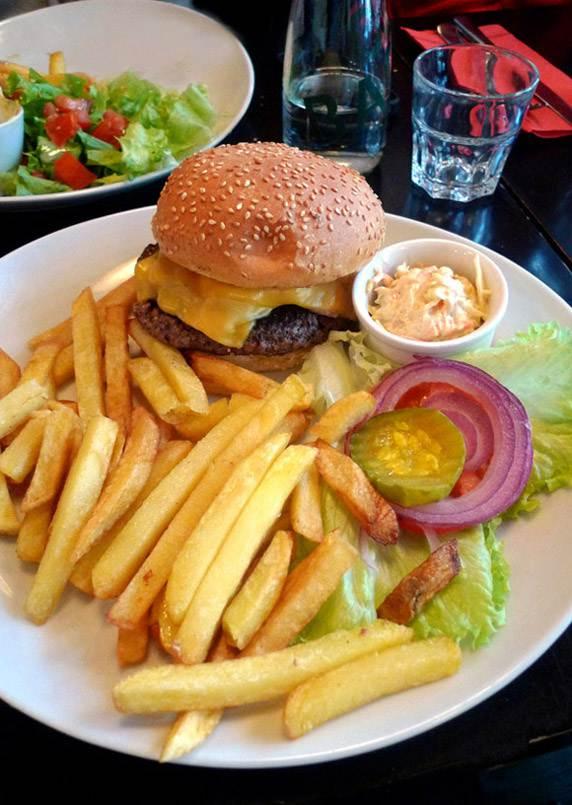 Restaurant PDG Marais, cheese burger