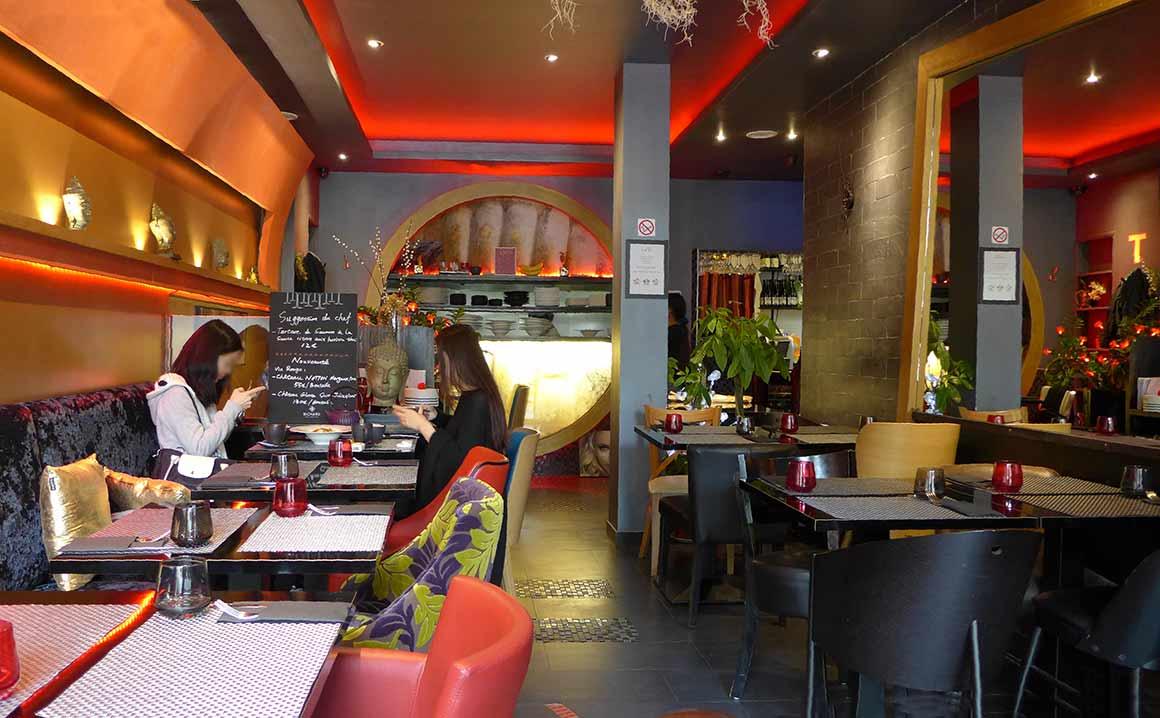Restaurant Piment Thaï 21, la salle
