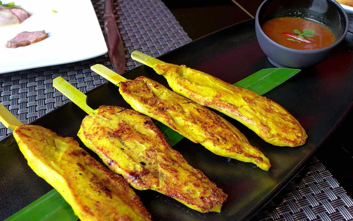 Restaurant Piment Thaï 21, brochettes de poulet grillé