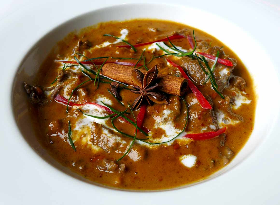 Restaurant Piment Thaï 21, boeuf au curry rouge
